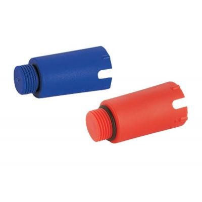 Emmeti Red and Blue Test Plugs for use with female connection