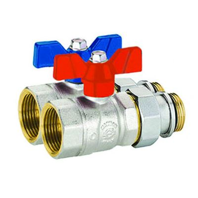 Emmeti Straight Perfecta Ball Valves with Female to Male Union Connection