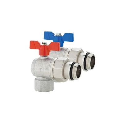 Pair of Emmeti Right Angle Progress Ball Valves F_MU