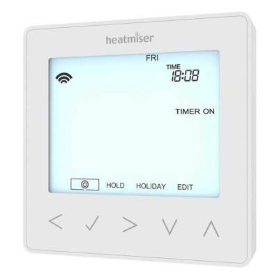 Heatmiser NeoStat-HW White Front - Heat Direct
